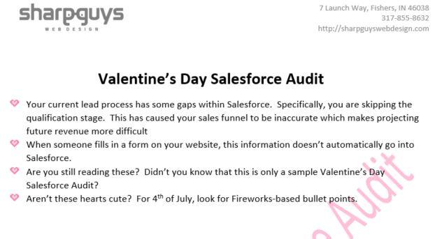 valentines day audit