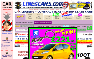 horrible car website