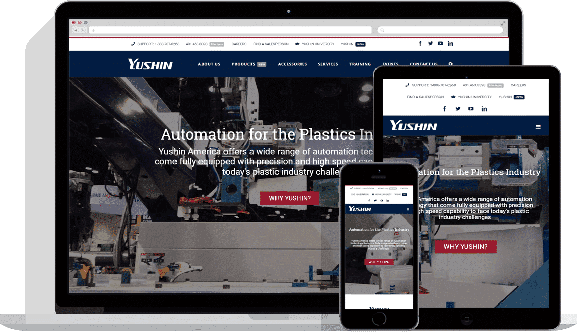 industrial web design yushin